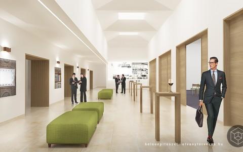 Építészeti látványtervezés hotel fejlesztéshez