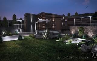 Építészeti látványtervezés nyaraló épülethez