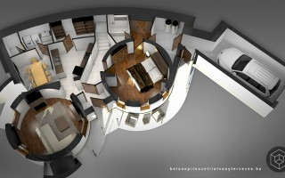 Belsőépítészeti látványtervezés 3d alaprajz készítés
