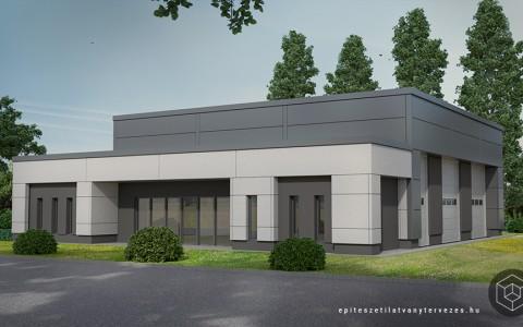 Építészeti látványtervezés – ipari épület látványterv