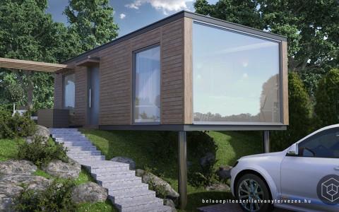 Építészeti látványtervezés – mobilház