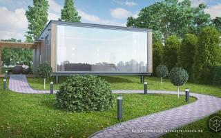 Építészeti látványtervezés – mobilház látványterv