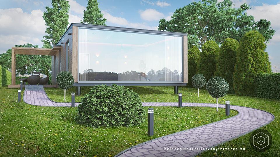 Építészeti látványtervezés - mobilház látványterv