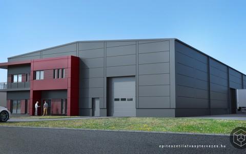 Ipari épület látványtervezés