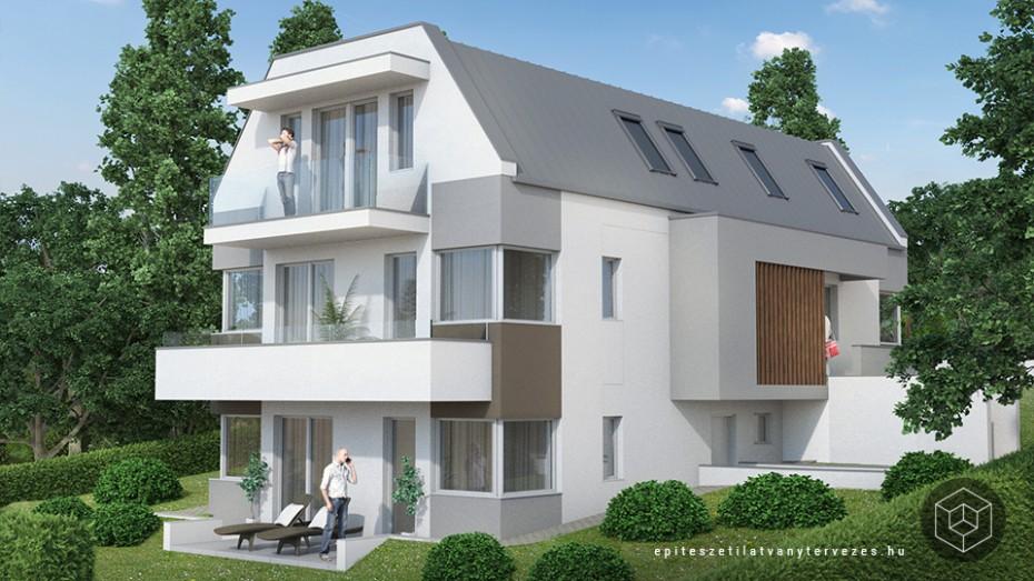 Lakóház látványtervezés építészeti látványterv