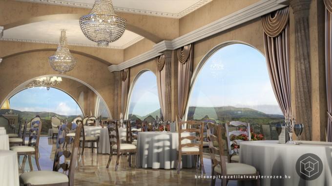 Építészeti vizualizáció - wellness hotel 3d látványtervezés