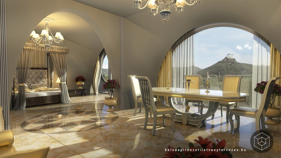 Wellness hotel belsőépítészeti vizualizáció