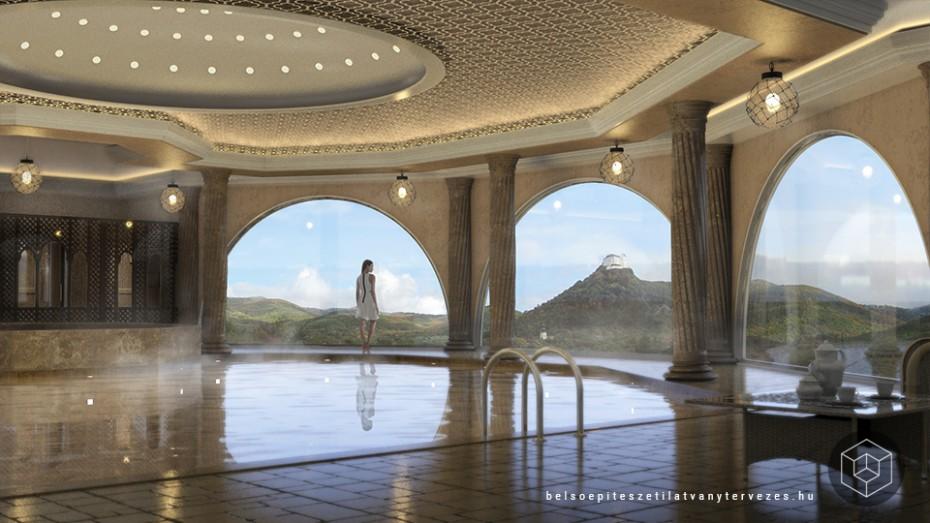Építészeti vizualizáció - Wellness hotel látványtervezés