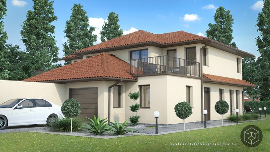Családi ház építészeti látványtervezés