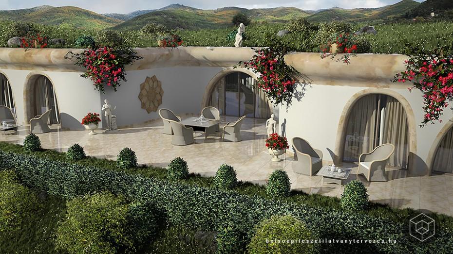 Építészeti látványterv készítés - Dombház hotel