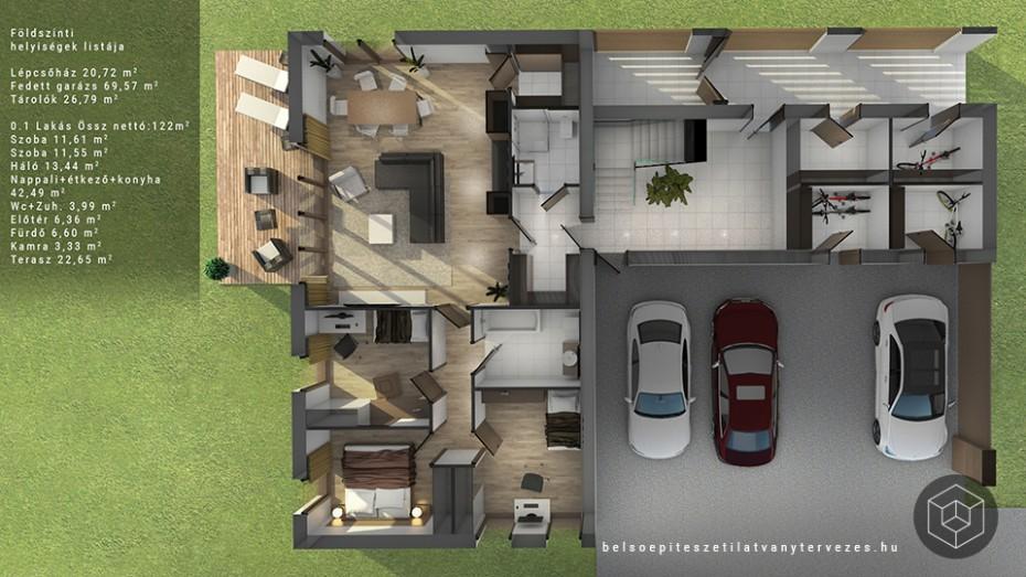 Marketing alaprajz építészeti látványterv készítés